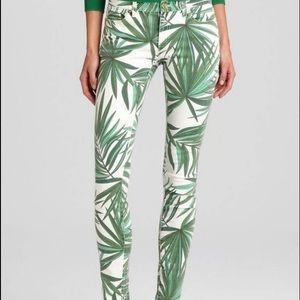 Michael Kors palm print skinny jeans sz 4